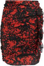 ISABEL MARANT ruffle-trimmed printed silk mini skirt 40 UK10/12 Net a Porter Red