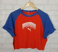 VINTAGE PUMA 90s SPORTS URBAN RENEWAL T SHIRT CROPPED OVERSIZED BRIGHT RETRO