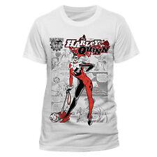 DC Comics Harley Quinn Kaboom T Shirt (white) Large