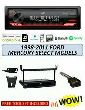 JVC KD-X270BT Stereo Kit for Select 1998-2011 Ford Mercury Lincoln, Remote App