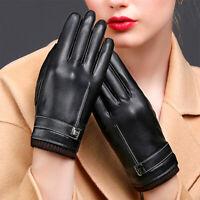 Hiver hommes femmes gants en cuir écran tactile 3D thermique gants conduite