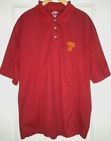 USC TROJANS NCAA TEAM GOLF POLO SHIRT MEN'S Large 100% Polyester