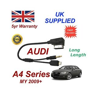 AUDI A4 Series Samsung Galaxy S4 S5 S6 S7 Micro USB & AUX 3.5mm Audio Cable Lng