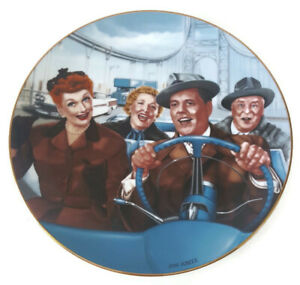 I Love Lucy Plate California Here We Come Hamilton Collection