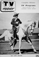TV Guide 1951 The Lone Ranger Clayton Moore & Silver Pre National NM/MT COA