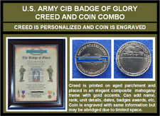 Mc-Better: Personalized Cib Badge of Glory And Engraved Cib Coin