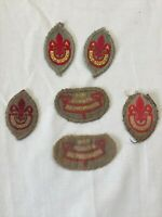 6 x Vintage Boy Scouts Badges