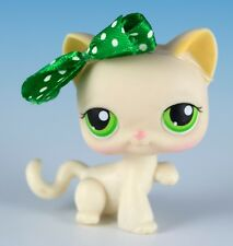 Littlest Pet Shop Cat Shorthair #456 Cream With Green Eyes