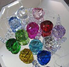 12 Crystal Ball Prism Pendant Ornament Suncatcher Set, 40mm