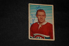 GILLES TREMBLAY 1963-64 PARKHURST SIGNED AUTOGRAPHED CARD #21 CANADIENS