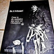 Sammy Lee Jr. B/W Rodeo poster by Ed McCombs for Navajo Community College