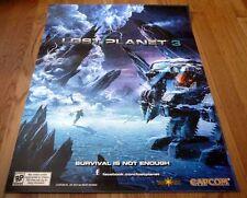 LOST PLANET 3 sdcc 2012 Limited Original spark capcom POSTER PS3 xbox 360