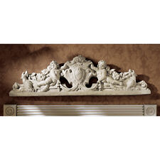 Angelic Cupids Stylish Hounds Royal Coat of Arms Sculptural Wall & Door Pediment