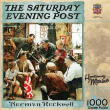 1000 SATURDAY EVENING POST JIGSAW PUZZLE HOMECOMING MARINE NORMAN ROCKWELL 2013
