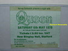 QUEEN 1978 Concert Ticket Stub BINGLEY HALL STAFFORD U.K. Freddie Mercury RARE