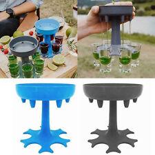 6 Shot Wine Glass Dispenser Party Drinking Game Liquor Beer Distributor Bar Tool