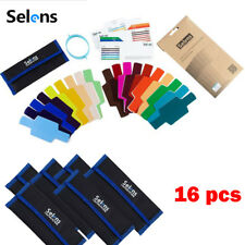 16x SE-CG20 FLash Speedlight Selens Color Gels Filter With Band Grip For Flashes