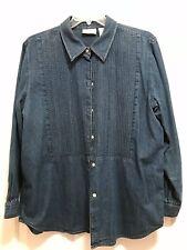 Blouse Liz Claiborne Woman Size 16W Denim Button Up Shirt Jacket