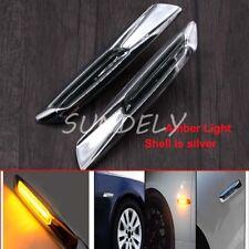 2pcs AMBER LED SIDE MARKER CLEAR REPEATER INDICATOR Lamp BMW E81 E82 E87 E88 NEW