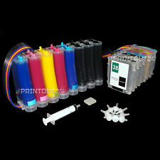 CISS refill ink quick fill in for HP 38XL Photosmart B8850 B9100 B9180 cartridge