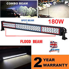 32Inch 180W LED Spot Flood Combo Driving Work Light Bar 4WD ATV SUV UTE Boat Van