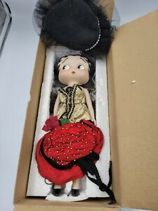 BETTY BOOP Vandor 1995 Porcelain Doll (Item #10960) wearing Holiday Dress in Box