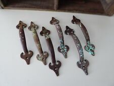 Iron Chippy Rusty Patina Aqua HANDLE - Rustic BoHo Farmhouse Metal Drawer Pulls