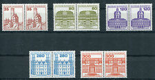 Bund 1139 - 1143 postfrisch waagerechte Paare BRD Burgen und Schlösser MNH