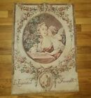 ORINGAL ANTIQUE FRENCH Tapestry 1940's L'inspiration Favorable Must See!