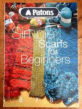 ~PATONS BOOK No. 2162 - SIMPLE SCARFS FOR BEGINNERS - 13 STYLES/PATTERNS - GC~