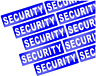 10  X REFLECTIVE SECURITY BADGE STYLE STICKER DECALS         (b1)