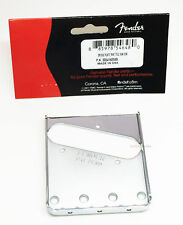 Genuine Fender Vintage Telecaster Tele 3-Saddle Bridge Plate - Chrome