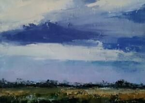 Original Landscape, Impressionism, Acrylic on canvas, Michele Helders