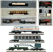 MARKLIN Z SCALE  82182 86551 86571  2 Freight Cars & 1 Crane Car - C9 Orig Boxes