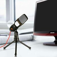 Professional Condenser Microphone Sound Podcast Studio Stereo 3.5 Mic For PC Hot