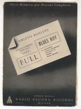 Spartito AMLETO ROELENS Full - Blues riff 1950 Sheet music Jazz