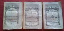 RARE 1885/87 HISTOIRE D'ALEXANDRE LE GRAND en TROIS TOMES