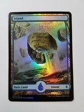 Island 258/274 - FOIL - Battle for Zendikar (Magic/mtg) Full Art Land