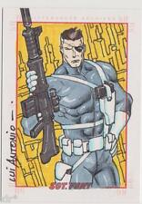 SGT FURY & HIS HOWLING COMMANDOS SKETCH CARD SKETCHAFEX CARD LUI ANTONIO