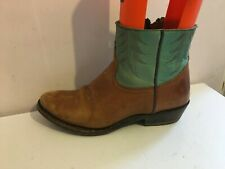 ASH COWBOY WESTERN GENUINE LEATHER ANKLE SIZE 6 BROWN COMBI BOOTS SHOES WOMENS