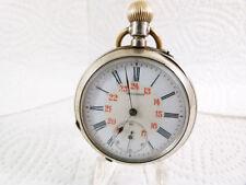 Mechanische - (Handaufzugs) Taschenuhren mit 24-Stunden-Zifferblatt aus Silber
