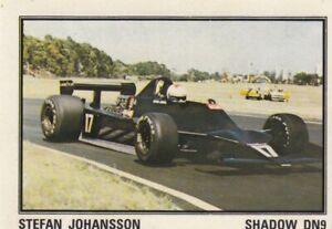 sticker Stefan Johansson Shadow FORMULA 1 F1 Grand prix Panini Yugoslavia