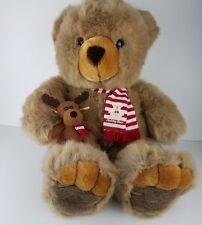 "JC Penney Holiday Collection 24"" Christmas Teddy Bear Plush Holding Reindeer EUC"