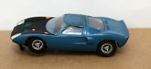 Vintage Cox Ford GT 1:24 Slot Car Runs Blue