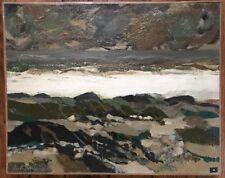 Tableau Moderne Expressionnisme  Ocean Peinture signée J C Bertrand (1928-1987 )
