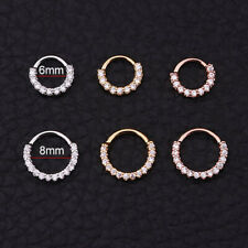 Helix Cartilage Earring CZ  Nose Ring Daith Piercing Jewelry Exquisite@tt*