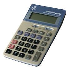 H2O Water Powered 12 Digit Display Desctop Calculator