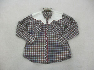 Kenny Rogers Shirt Adult Extra Large Red Pearl Snap Karman Western Cowboy Mens *