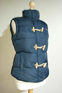 Jack Wills Duck Down & Feather Duffel Gilet with Toggles Ladies UK 12 Navy Blue