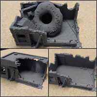 28mm Wargame Modern Warfare Military Destroyed Donut Shop Ruined Building